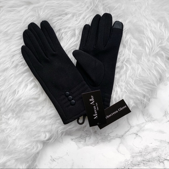 Marcus Adler Accessories - Marcus Adler button touchscreen gloves black NWT